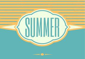 Retro Summer Vector Background