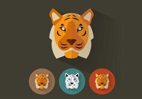 Tiger-vector-portraits