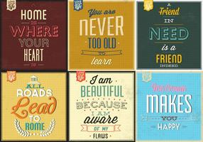 Retro Typographic Poster Vector Pack