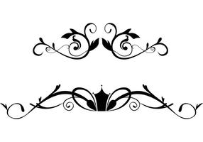 Gratis Floral Ornamental Border Vectors