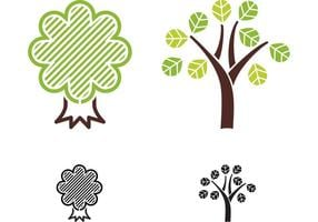 Livre vetores de árvore abstrata