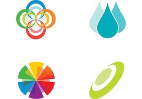 Freie farbige Elemente Vektoren