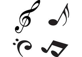 Notas de la música moderna vectores