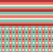 Teal and Coral Retro Patterns gratuiti
