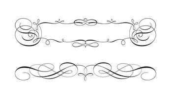 Swirly scroll frame- en grensvectoren