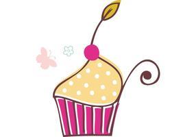 Vectores de cupcake gratis
