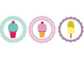 Etiquetas dulces gratis Vectores