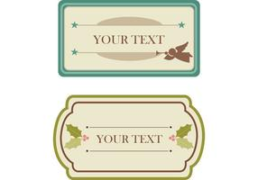 Gratis vintage kerst tags en labels vectoren