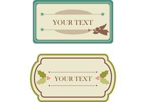 Etiquetas de Navidad gratis Vintage y vectores de etiquetas