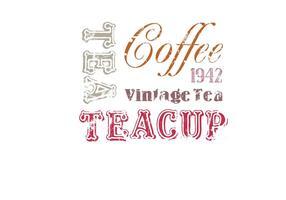 Kostenlose Vintage Kaffee und Tee Vektoren