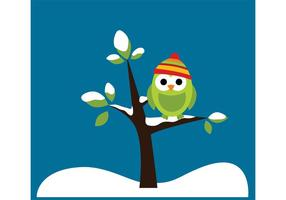 Winter Owl Vectors