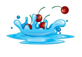 Cherry Fruit Vector Splashes