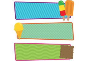 Free Vector Ice Cream and Popsicle Banners