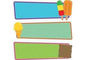 Vector libre Helados y Banners de paleta