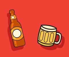 Beer-vector-bottle-and-mug-vector