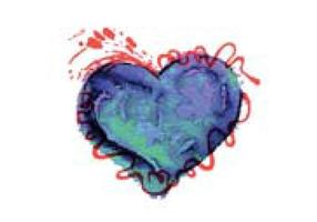 Free Colorful Watercolor Heart Vector