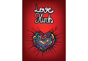 Free Love Hurts Heart Vector