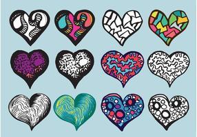 Free-doodle-heart-vector-set
