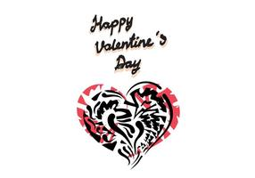 Free Vector Valentine's Day Greeting Card Vector