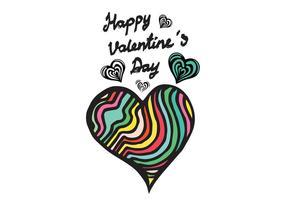 Gratis Doodle Heart Vector
