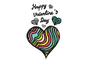 Vector corazón libre Doodle