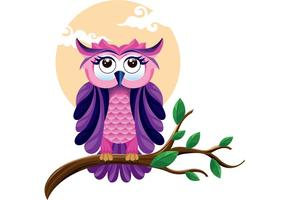 The Beautiful Owl Vector