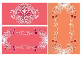 Cadres vectoriels floraux gratuits