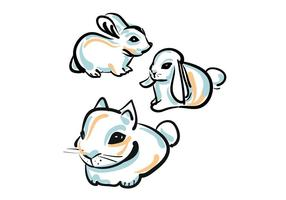Vector Cute Cute Bunny