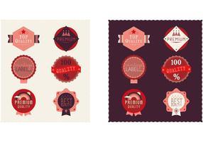 Set van badgevectoren en labelvectoren