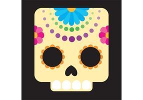 Vector mexicano del cráneo del azúcar