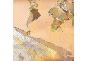 Wereldkaart Vector Achtergrond