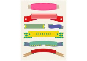 Set van Flat Ribbon Vectors