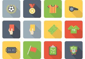 Free Vector Soccer Icon Set