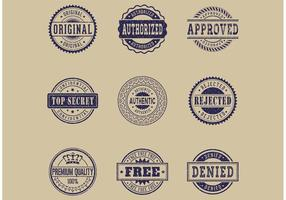 Free Commercial Grunge Rubber Stamps Vector