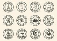 Free Holiday Rubber Stamps Vector