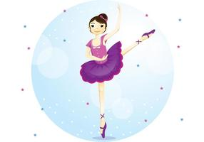 Ballett Dans Vector Girl