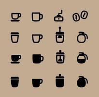 Iconos vectoriales de café