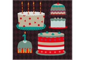 Set Decoratieve Cake Vectoren