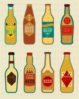 Vectores de cerveza botellas y etiquetas