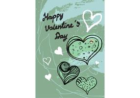 Gratuit Valentine's Day Greeting Card Vector