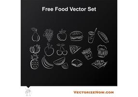 Fruit and Food Vector Icon Drawings