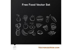 Frutas y Alimentos Vector Iconos Dibujos