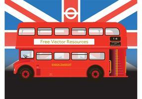 Red Double Decker Bus Vector