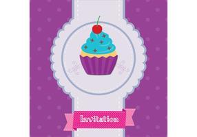 Vetor do convite do cupcake