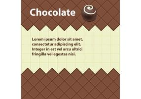Fondo del vector del chocolate
