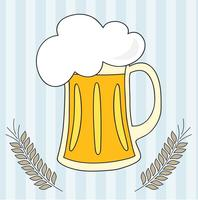 Bier Vector Met Tarwe