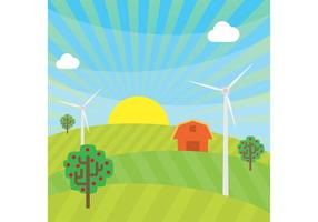 Farm Vector Landscape