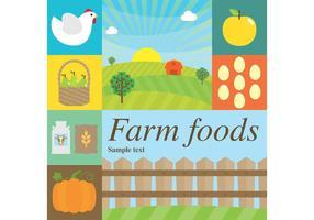 Alimentos de vetor de fazenda