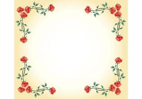 Cadre Vector Rose gratuit