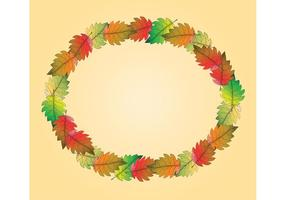 Gratis Fall Leaf Vector Frame